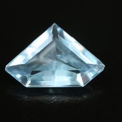Loose 4.26 CT Shield Faceted Topaz
