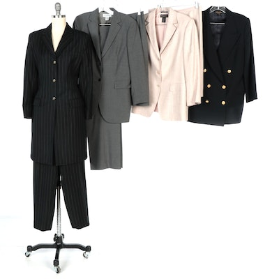 Lauren Ralph Lauren and Brooks Brothers Pantsuits, Skirt Suit, and Blazer