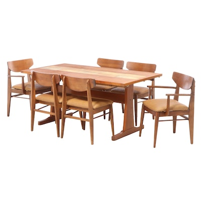 Gangsø Møbler Danish Modern Tile Inset Dining Table with H. Paul Browning Chairs