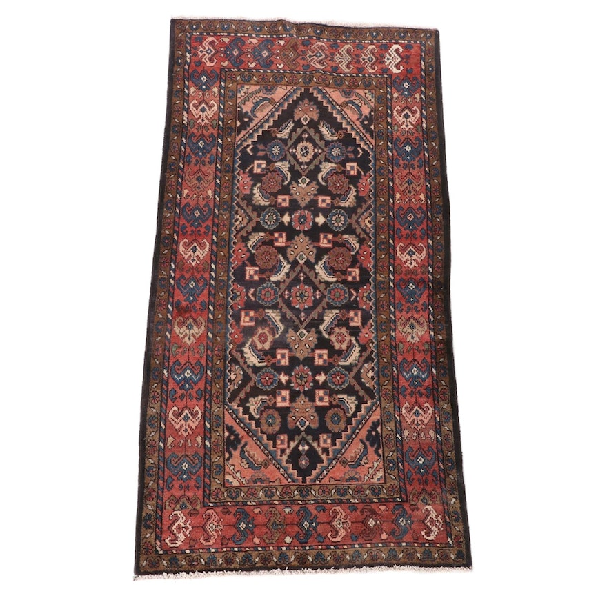 3'7 x 7'6 Hand-Knotted Persian Josheghan Wool Rug