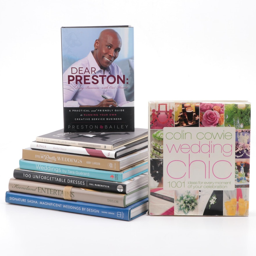 """Signed """"Dear Preston"""" by Preston Bailey with Wedding and Fashion Reference Books"""