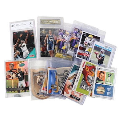 1948-2000s Football and Basketball Cards with Johnny Unitas Topps Archives