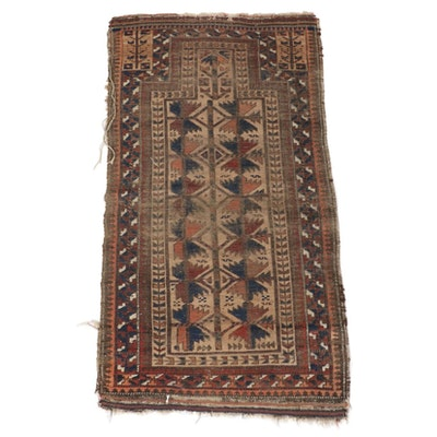 "2'8 x 4'10 Hand-Knotted Afghan Baluch ""Tree of Life"" Rug"