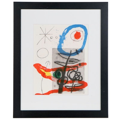 "Joan Miró Color Lithograph for ""Derrière le Miroir,"" 1965"