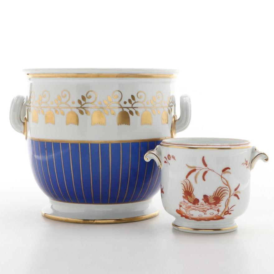 Cartier for Sèvres Porcelain Cache Pot with Richard Ginori Italy Cache Pot