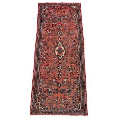 3'9 x 9'11 Hand-Knotted Persian Lilihan Wool Long Rug
