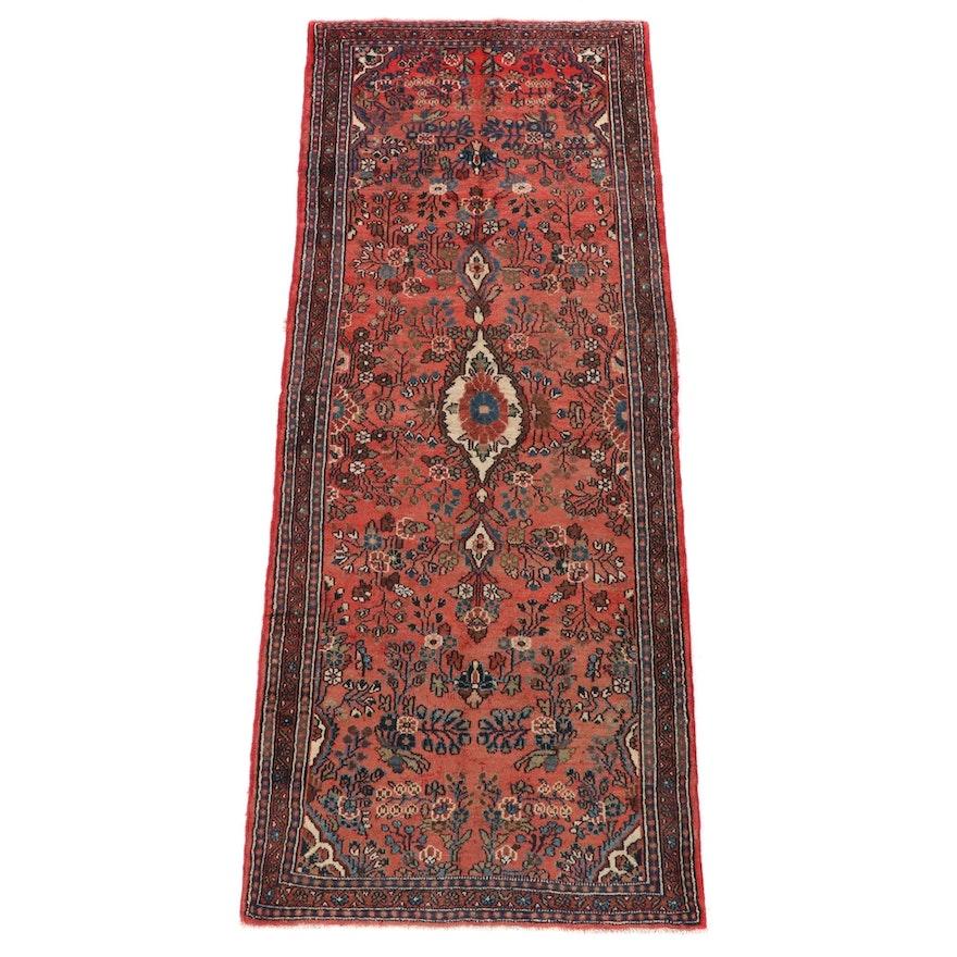 3'9 x 9'11 Hand-Knotted Persian Lilihan Wool Long Rug