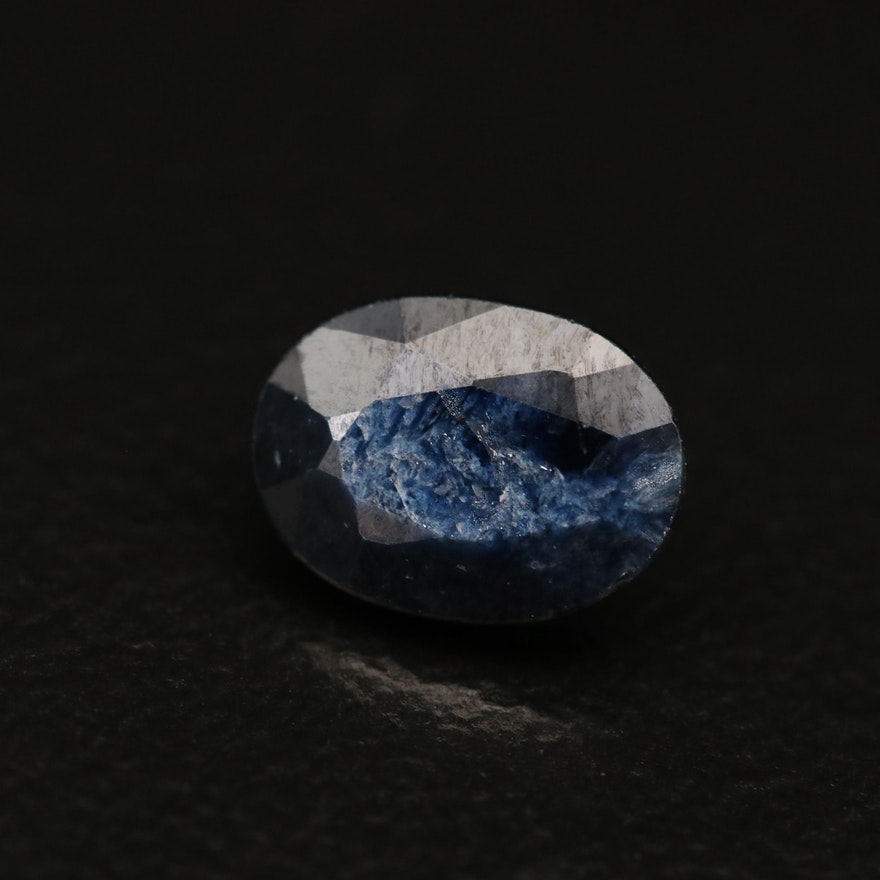 Loose 0.82 CT Oval Faceted Sapphire
