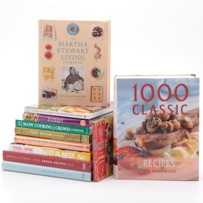 "First Edition ""The Martha Stewart Living Cookbook"" and More Cookbooks"