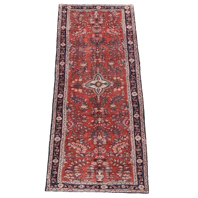 3'9 x 9'3 Hand-Knotted Persian Mehriban Wool Long Rug
