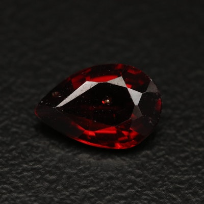 Loose 1.48 CT Pear Faceted Garnet