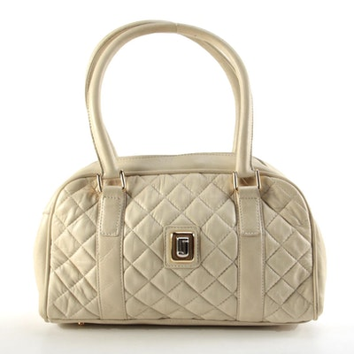 Judith Leiber Quilted Leather Handbag