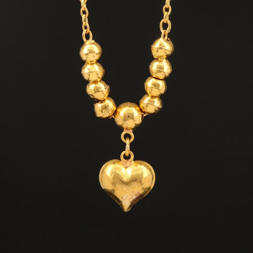 22K Scrap Heart Necklace