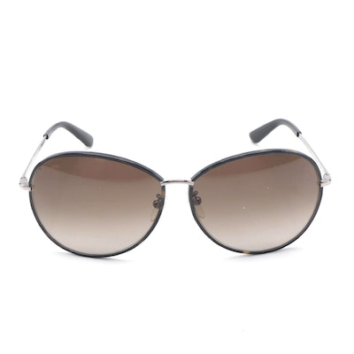 ETRO ET101SK Dark Havana and Silver Tone Metal Frame Sunglasses