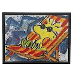 """Lithograph after Tom Everhart Lithograph """"Paradise (Woodstock)"""""""
