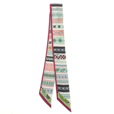 Hermès Printed Silk Twilly Scarf