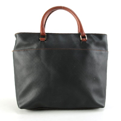 Bottega Veneta Bicolor Coated Canvas Tote Bag