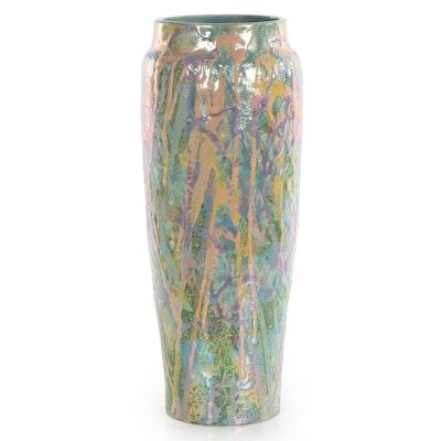 Glazed Wheel Thrown Pottery Vase, Late 20th Century