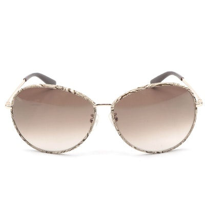 ETRO ET101SK Brown Paisley and Gold Tone Metal Frame Sunglasses