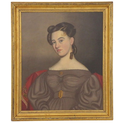 Oil Portrait of a Lady, Late 19th Century