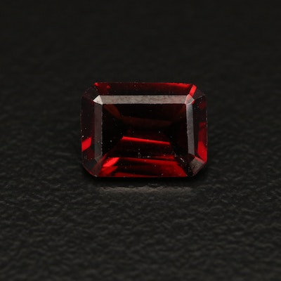 Loose 1.57 CT Cut Corner Rectangular Garnet