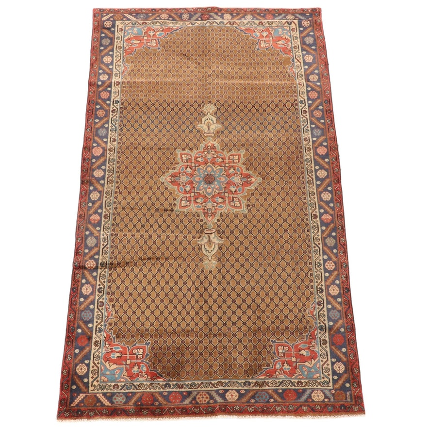 5'0 x 9'0 Hand-Knotted Persian Kurdish Kolyai Wool Rug