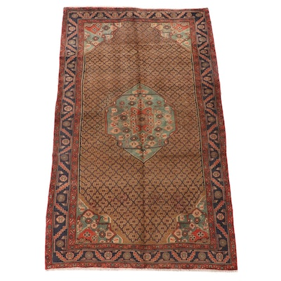 5'0 x 9'0 Hand-Knotted Persian Kurdish Kolyai Wool Area Rug