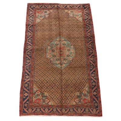 5'0 x 9'0 Hand-Knotted Persian Kurdish Kolyai Wool Area Rug