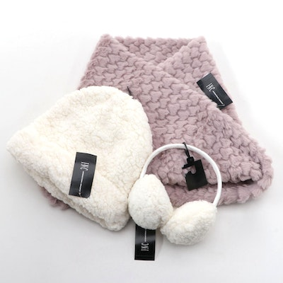 INC Earmuffs, Faux Fur Beanie and Infinity Scarf