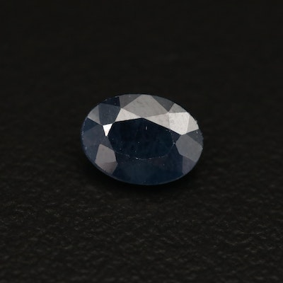 Loose 1.18 CT Oval Faceted Sapphire