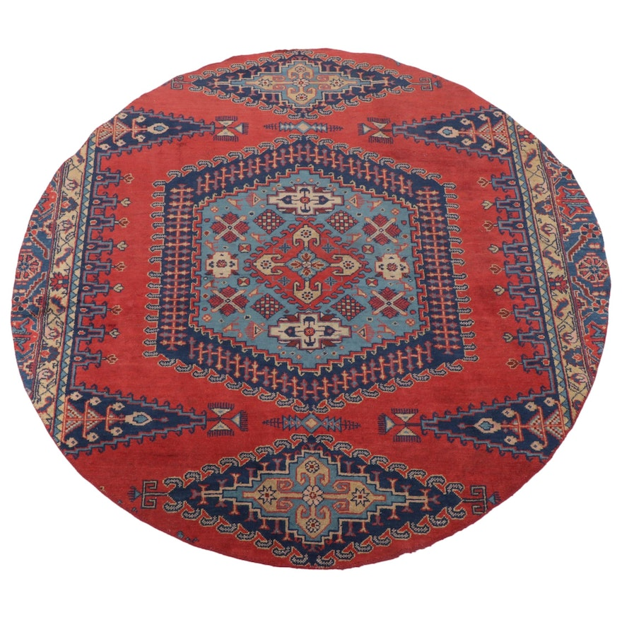 6'6 x 6'6 Hand-Knotted Persian Viss Round Rug