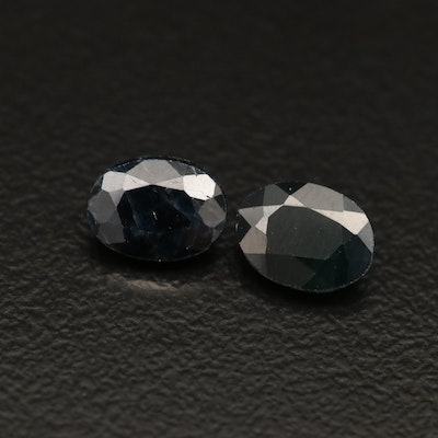 Loose 2.20 CTW Oval Faceted Sapphires