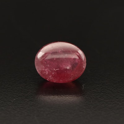 Loose 5.91 CT Oval Tourmaline Cabochon