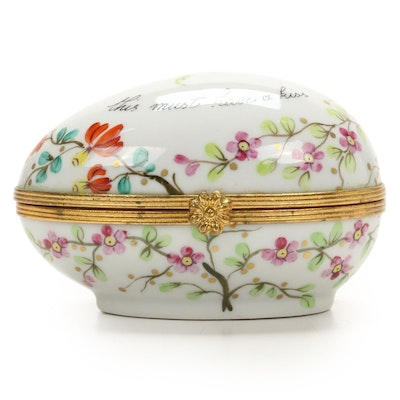 Le Tallec for Tiffany & Co. Hand-Painted Egg Form Limoges Box