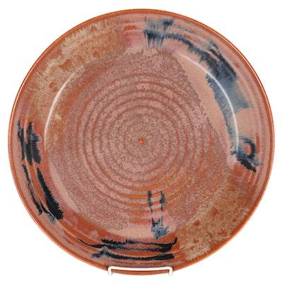 Larry Manning Stoneware Shrimp Platter, 1980