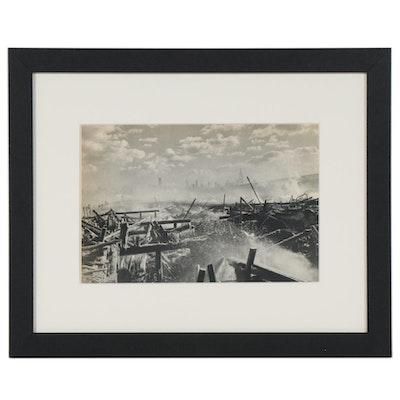 """Henri Cartier-Bresson Photogravure """"New York, 1947, After a Fire,"""" 1952"""