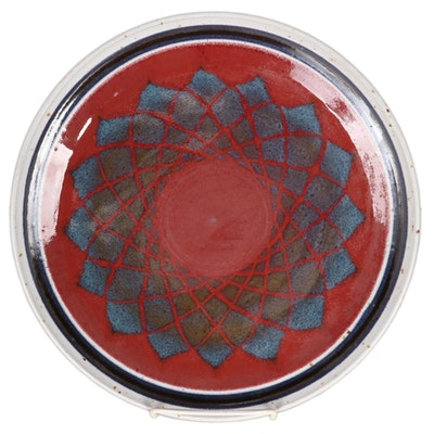 Timothy Cundiff Wheel-Thrown Ceramic Plate, Late 20th Century