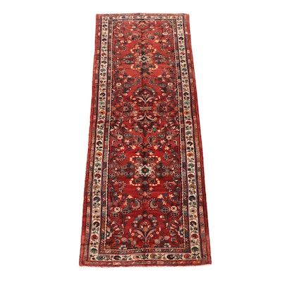 4'2 x 11'8 Hand-Knotted Persian Lilihan Wool Long Rug