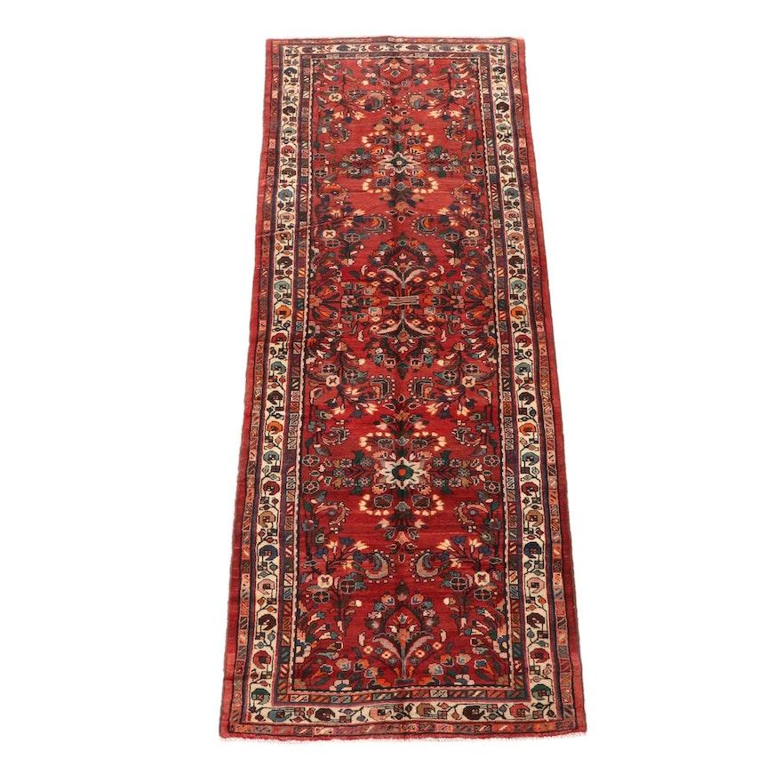 4'2 x 11'8 Hand-Knotted Persian Lilihan Wool Long Rug