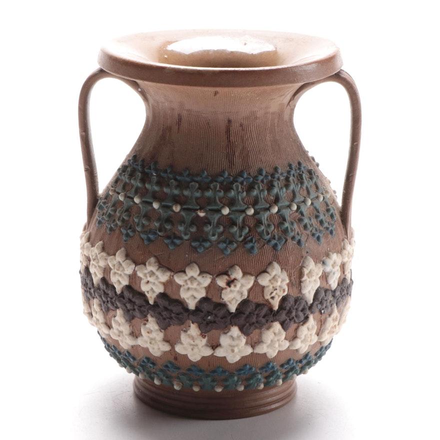 Royal Doulton Lambeth Silicon Ceramic Amphora