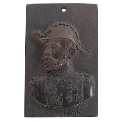 Resin Cast Plaque of George Ernest Jean Marie Boulanger, Late 20th Century