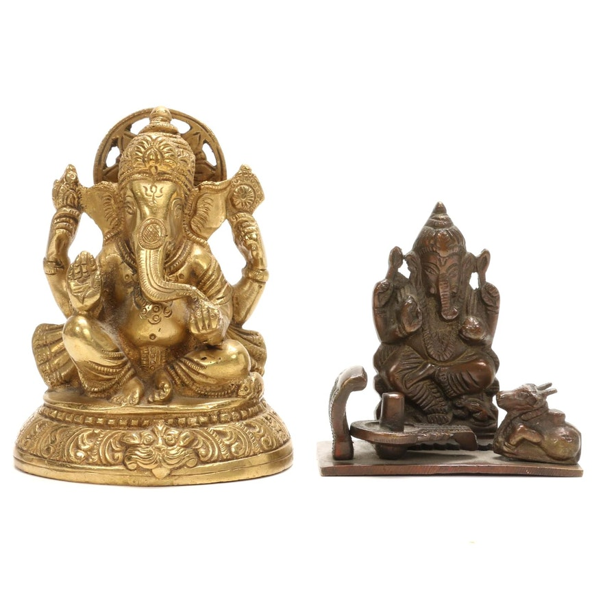 Ganesha Brass Figurines