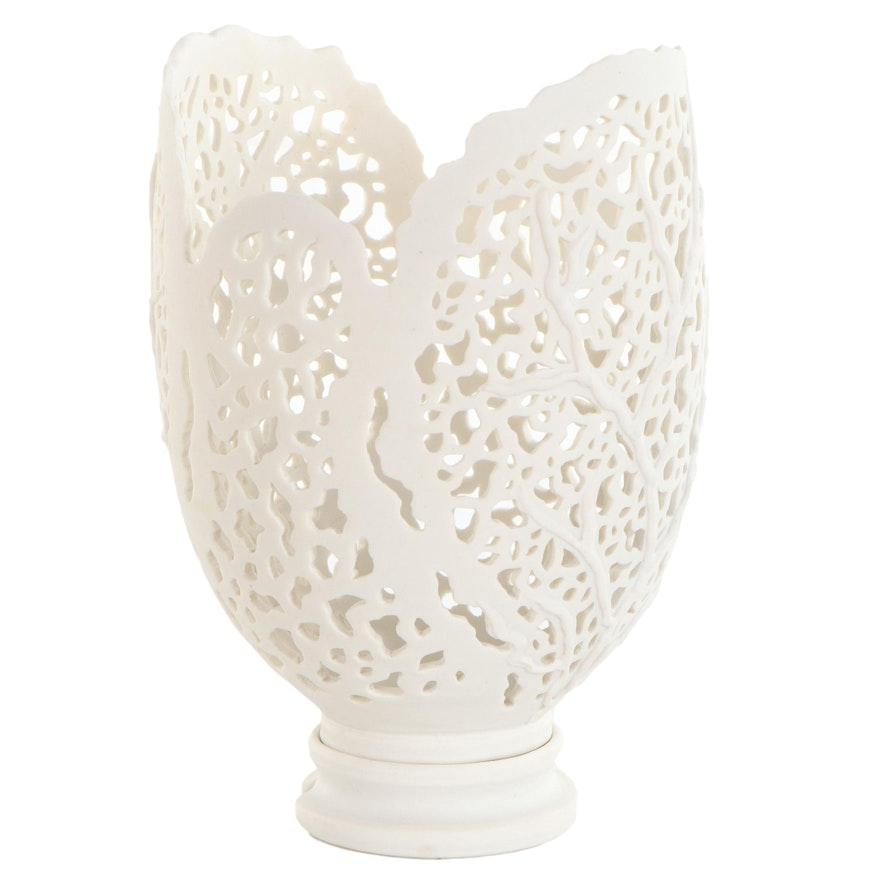 Porcelain Sculpture of Double Seafan, 1996