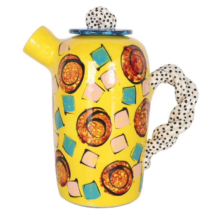"Vicki Walker ""Wake Me Up"" Porcelain Teapot, Late 20th Century"