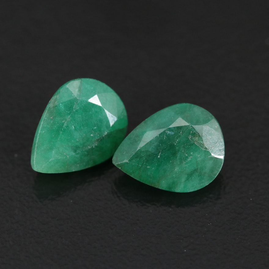 Matched Pair of Loose 4.31 CTW Emeralds