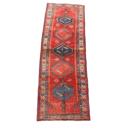3'5 x 10'4 Hand-Knotted Caucasian Shirvan Wool Carpet Runner