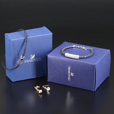 Swarovski Crystal Bracelets and Earrings