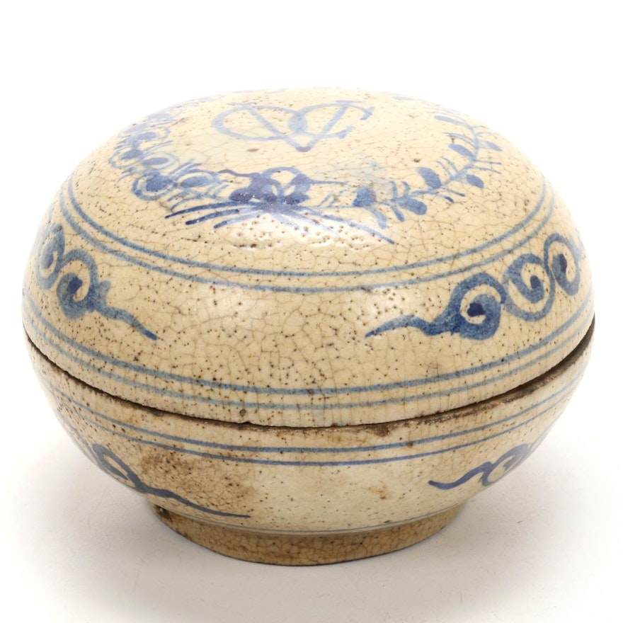 """Chinese Lidded Box with Dutch East Indian Trading Company """"VOC"""" Monogram"""
