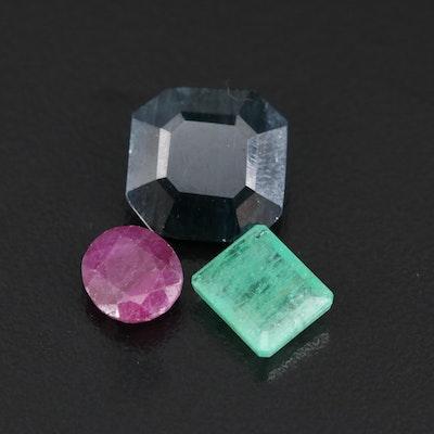 Loose 8.86 CTW Sapphire, Emerald and Corundum