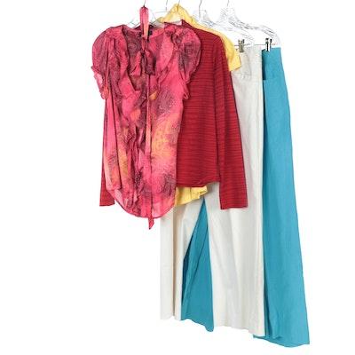 Antonio Melani Wrap Top, Urban Kiabi Shirt, AGB Blouse, Acorn and Other Pants